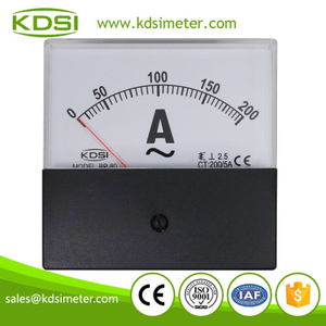 High quality professional BP-80 AC200/5A with black cover ac analog panel ampere meter