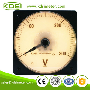 Wide angle LS-110 DC300V backlighting analog dc panel 0-300v voltmeter