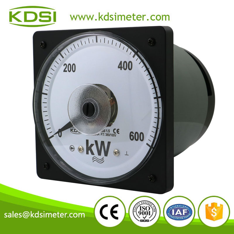 High quality professional LS-110 3P3W 600KW 1000/5A 380/100V volt amp analog panel portable watt meter