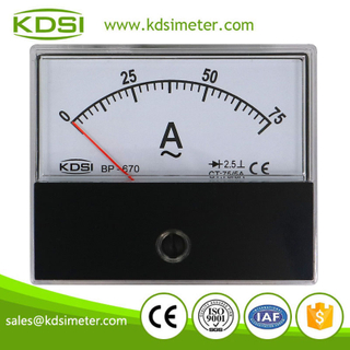 High quality professional BP-670 AC75/5A rectifier analog ac panel mount ammeter