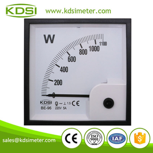 Square type BE-96 1P 1100W 220V 5A single phase analog power meter