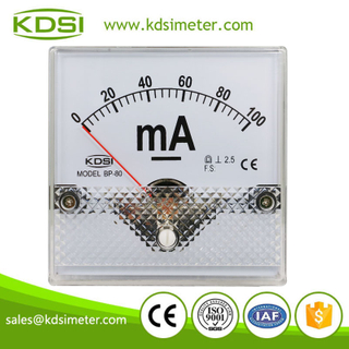 KDSI electronic apparatus BP-80 DC100mA analog panel dc milliammeter