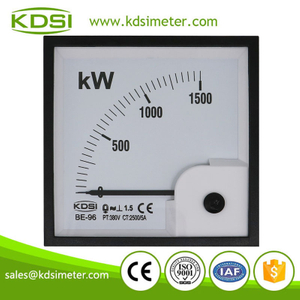 CE Approved BE-96 3P3W 1500kW 2500/5A 380V analog panel mounting power meters