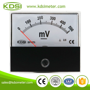 CE Approved BP-670 DC500mV high precision CL1.5 panel analog voltmeter & ammeter for solar power
