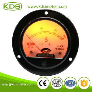 China Supplier BO-65 DC50mV 30A round type analog panel led backlight amp meter