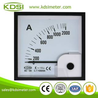 CE Approved BE-96 AC1000/5A panel analog ac ammeter