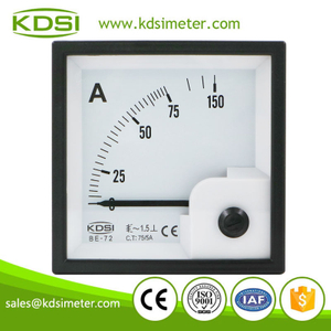 Easy operation BE-72 AC75/5A ac panel analog ammeter