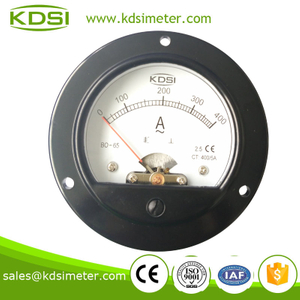 Round type Classical BO-65 AC400 / 5A analog current meter
