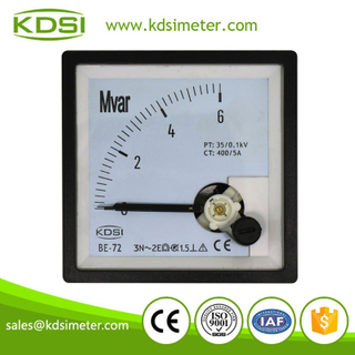 Industrial universal BE-72 3P3W 6Mvar 35-0.1kV 400-5A panel analog reactive power meter