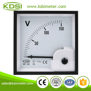 CE Approved BE-96 DC150V panel analog dc voltmeter