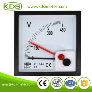 High quality BE-80 AC450V with red pointer ac analog panel mount voltmeter
