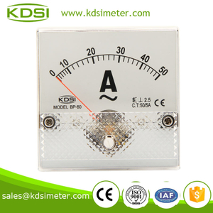 BP-80 80*80 AC Ammeter AC50/5A square type taiwan technology panel meter