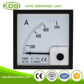 20 years Professional Manufacturer BE-80 AC600/5A panel current ac amp meter