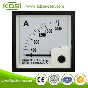 CE Approved BE-80 AC1600/5A analog amp current panel meter