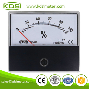 Easy operation BP-670 DC10V 100% analog panel voltage load meter