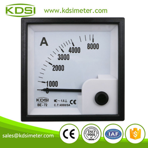 Factory direct sales BE-72 72*72 AC Ammeter AC4000/5A analog ac panel mount amp meter