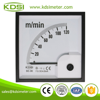 Hot Selling Good Quality BE-96 DC4-20mA 120m/min analog panel amp speed meter