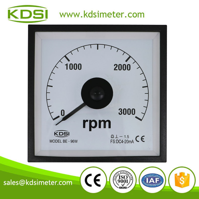 Marine meter BE-96W DC4-20mA 3000rpm analog wide angle electronic rpm meter