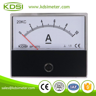 Hot Selling Good Quality BP-670 DC10A 20kc dc panel analog ampere meter