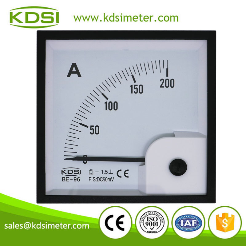 Easy installation BE-96 DC50mV 200A analog dc volt ampere meter