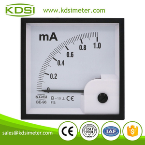 Hot Selling Good Quality BE-96 DC1mA dc analog panel meter 1ma