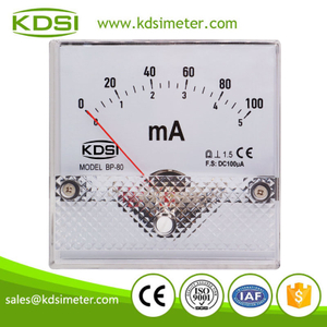 KDSI electronic apparatus BP-80 DC100uA 5/100mA analog amp current panel meter