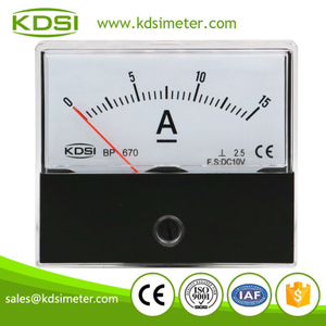 CE Approved BP-670 DC10V 15A panel analog dc voltmeter and ammeter