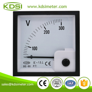 Easy operation BE-80 AC300V panel analog ac voltmeter