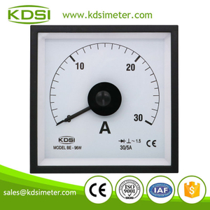 Easy operation BE-96W AC30/5A marine analog ac amp panel meter