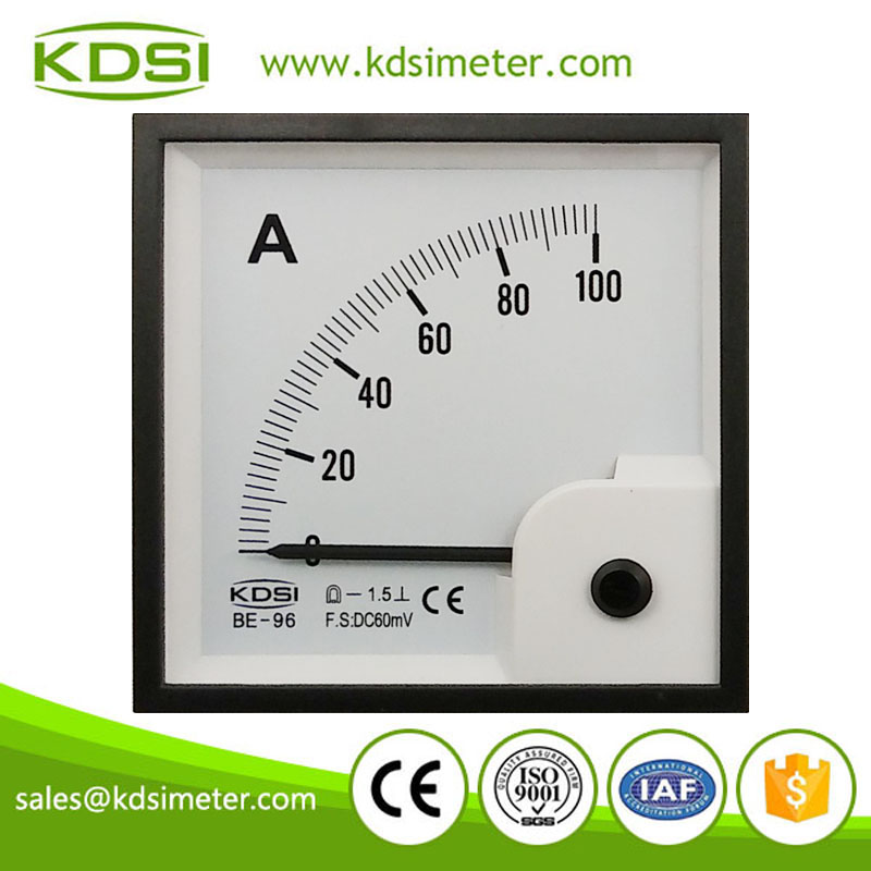 High quality professional BE-96 96*96 DC60mV 100A high current meter