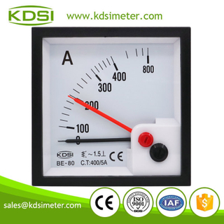Hot Selling Good Quality BE-80 AC400/5A with red pointer analog ac panel mount ammeter