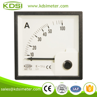 High quality professional BE-72 72*72 AC50A panel analog ammeter