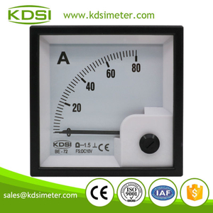 Hot Selling Good Quality BE-72 DC10V 80A analog dc panel mount ammeter