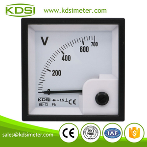 Factory direct sales KDSI BE-72 AC700V rectifier panel analog ac voltmeter