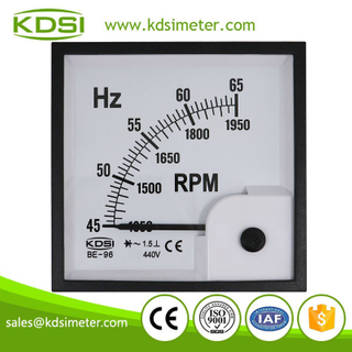 Safe to operate BE-96 45-65Hz+rpm 440V analog panel electronic Hz rpm meter