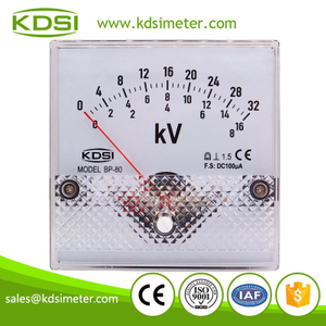 Hot Selling Good Quality BP-80 DC100uA 8-16-32kV panel dc analog current kilovoltmeter