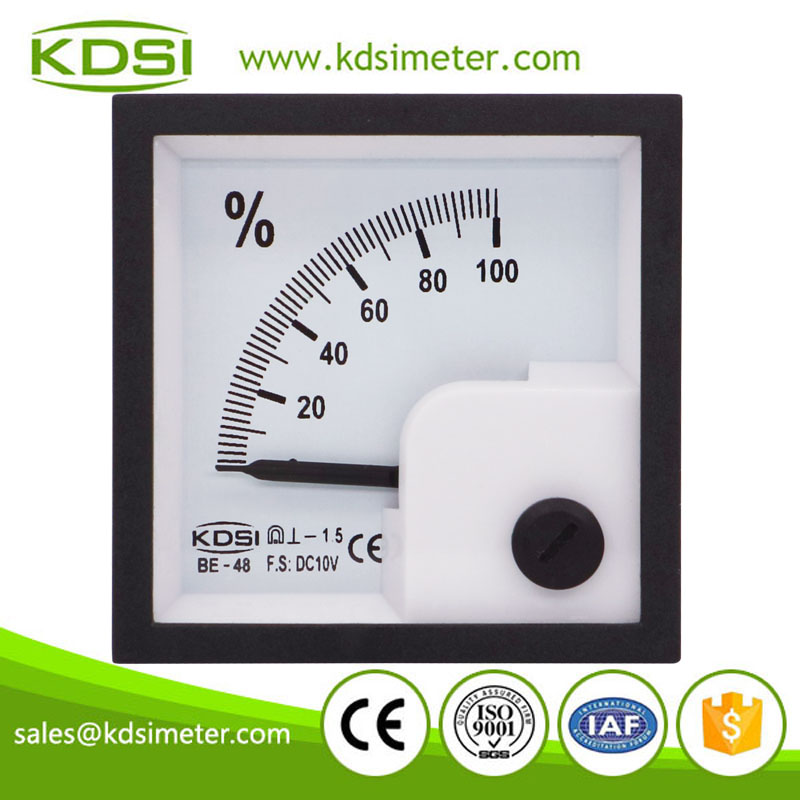 CE certificate BE-48 DC10V 100% panel analog mini voltage percent meter