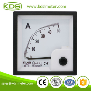 High quality BE-72 DC4-20mA 50A analog dc panel mount ammeter