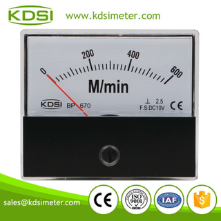 China Supplier BP-670 DC10V 600M/min analog panel voltage tachometer universal /rpm meter