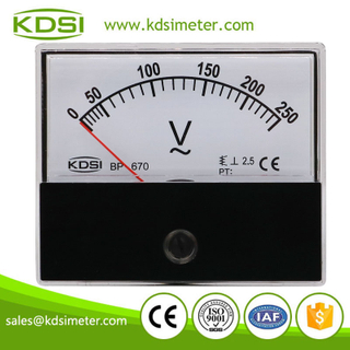 Factory direct sales BP-670 AC250V analog ac panel mount voltmeter