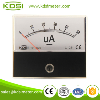 Easy operation BP-670 60*70 DC50uA ammeter with output