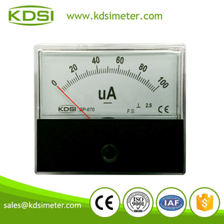 Rectangular type BP-670 DC100uA panel microammeter