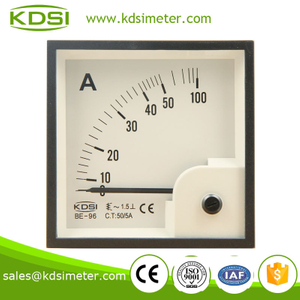 BE-96 96*96 AC Ammeter AC50/5A square type analog galvanometer