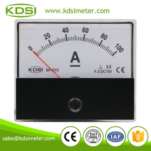 Safe to operate BP-670 DC10V 100A panel analog dc panel mount ammeter