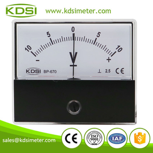 Hot Selling Good Quality BP-670 DC+-10V dc analog panel mount voltmeter