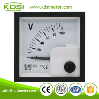 CE Approved BE-48 DC100V panel analog dc small voltmeter