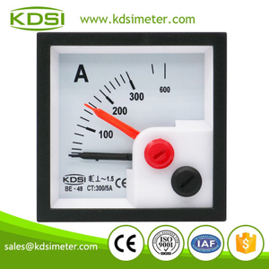 Hot sales BE-48 AC300/5A with red pointer ac analog panel ammeter with output