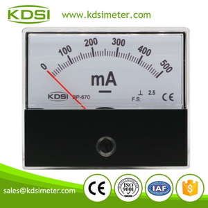High quality professional BP-670 DC500mA panel analog dc milliammeter