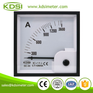 High quality professional BE-96 AC1200/5A 3times overload ac analog panel ampere indicator