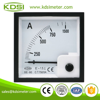 Factory direct sales BE-80 AC750/5A analog ac amp panel meter